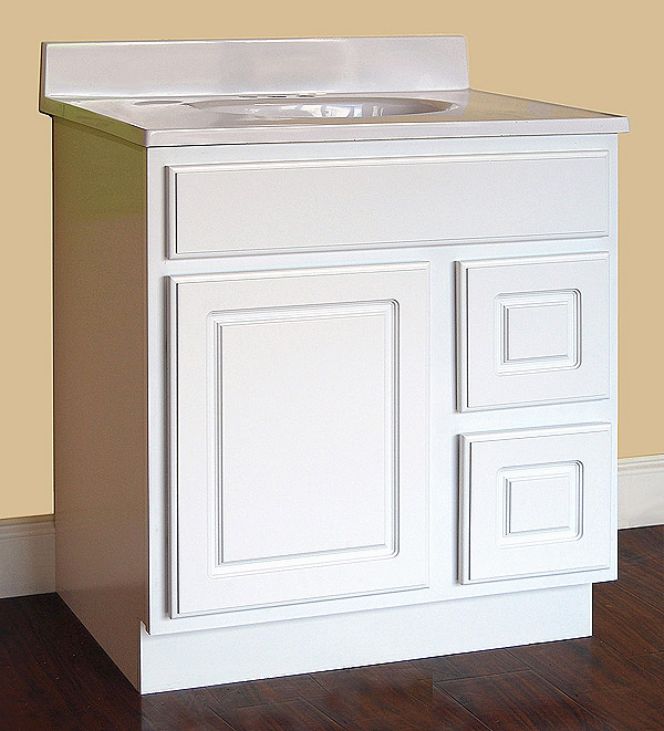 York White Bathroom Vanity - Builders Surplus