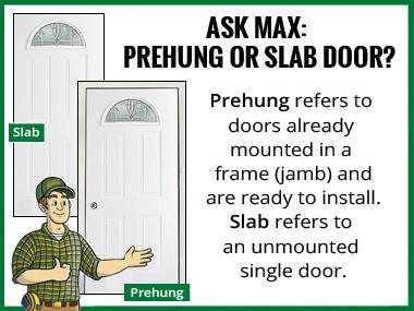 Prehung vs Slab Door