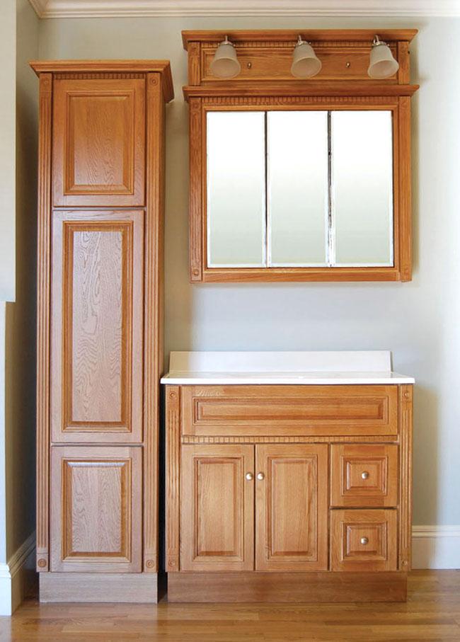 Heritage Oak Bath Vanity Builders Surplus