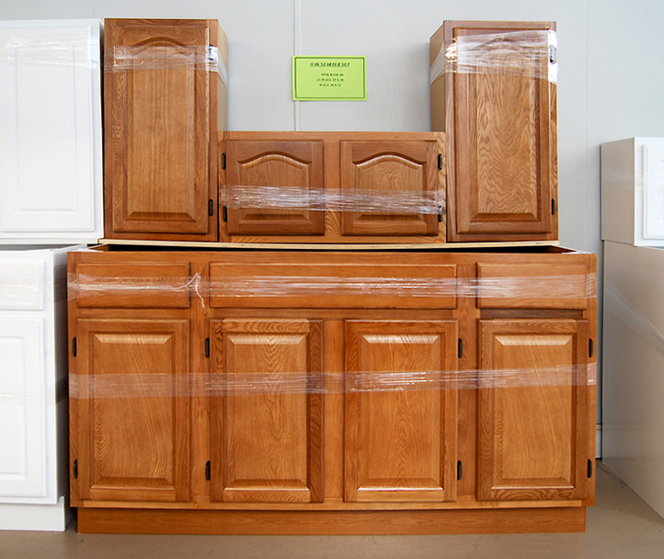 Oak Kitchen Cabinet Starter Set