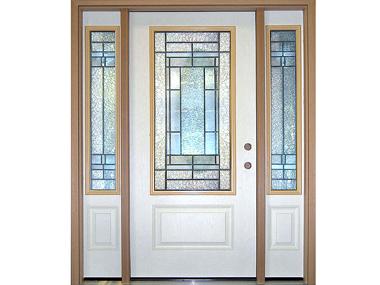 Decorative Glass Exterior Doors