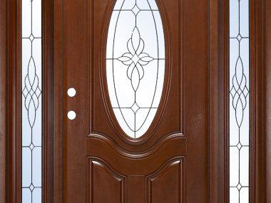 Prefinished Fiberglass Exterior Door