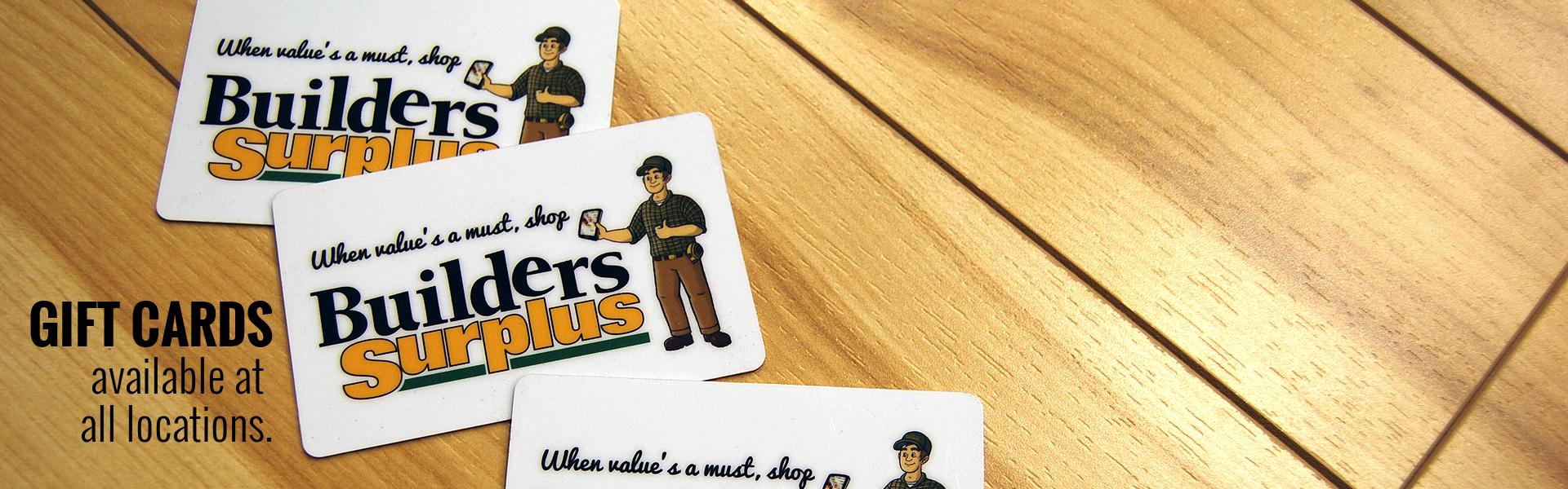 Builders Surplus Gift Cards