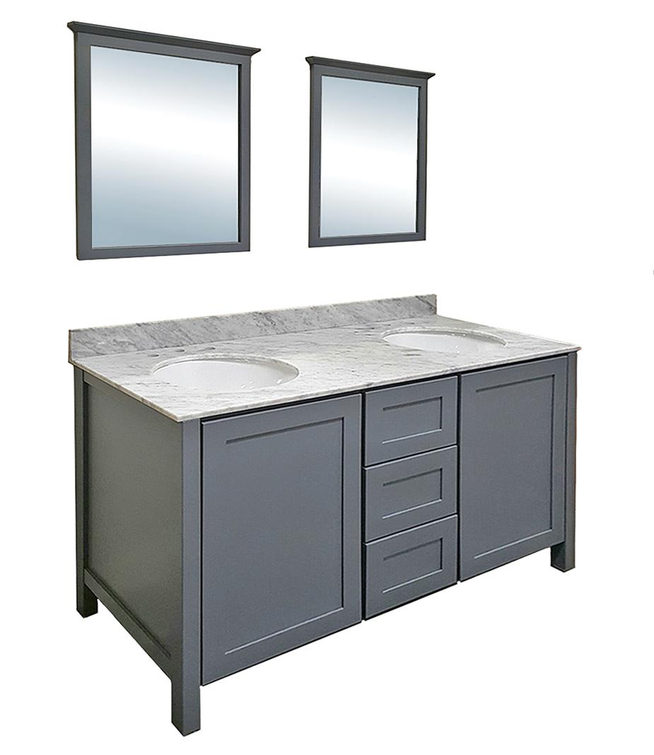 Portland grey bath vanity builders surplus for Portland baths