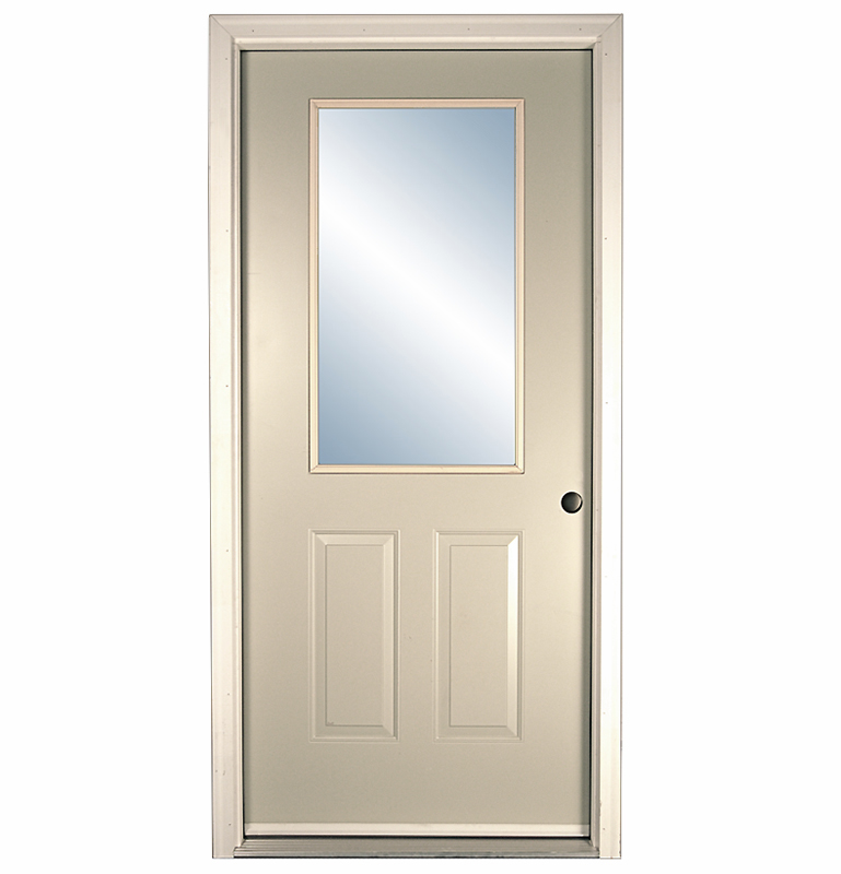 Half glass exterior door builders surplus for Half glass exterior door