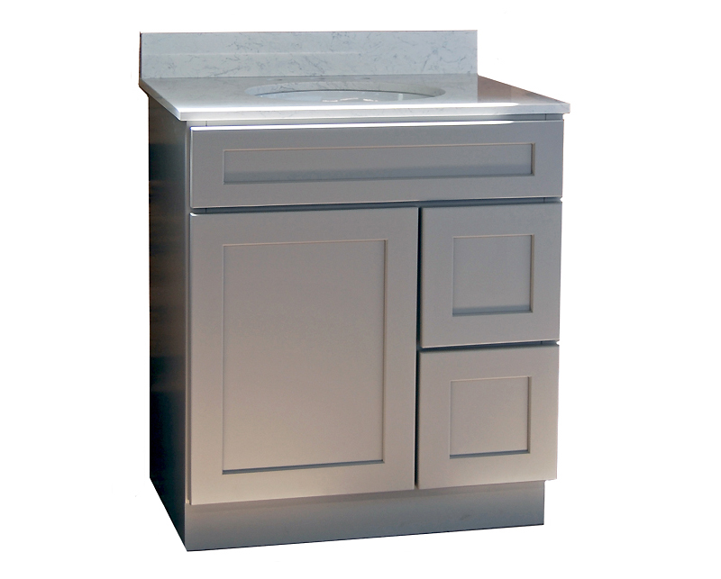 Stone harbor gray bathroom vanity builders surplus - Bathroom cabinets builders warehouse ...