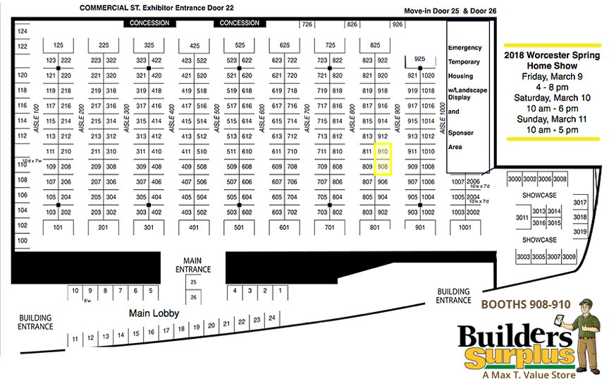 Worcester Home Show Map