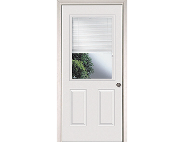 Mini Blinds Exterior Door