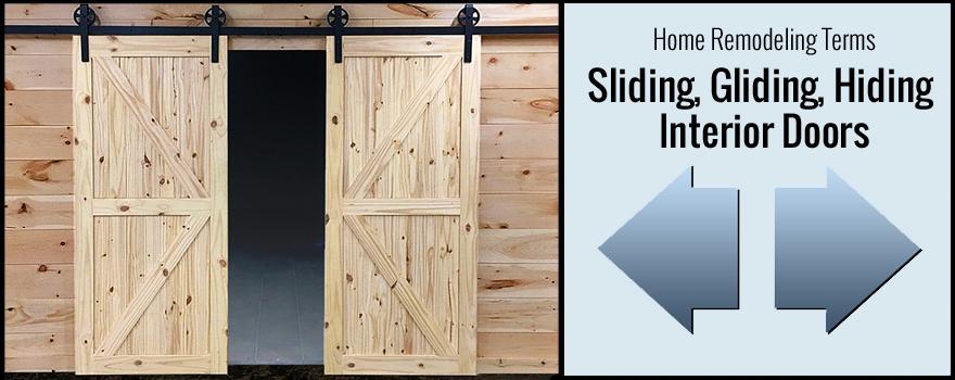 sliding, gliding, hiding interior doors