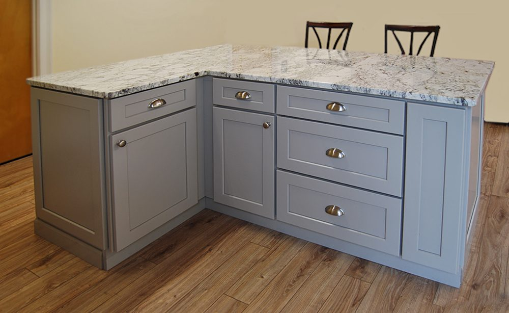 Stone harbor gray kitchen cabinets builders surplus for Bathroom cabinets builders warehouse