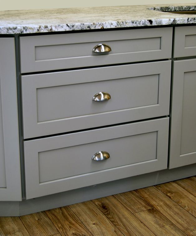 Stone Harbor Gray Kitchen Cabinets