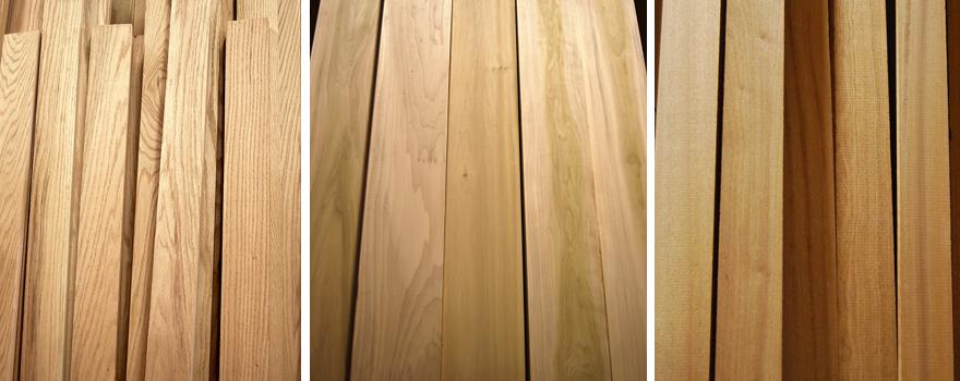 Oak, poplar & mahogany wood