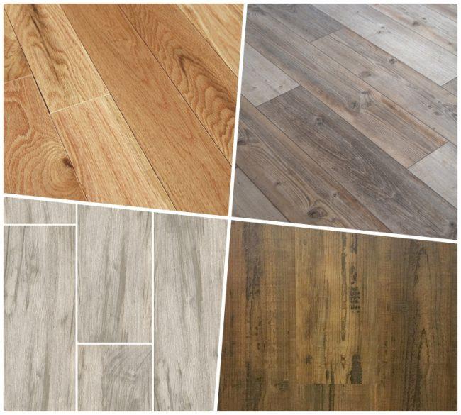 Flooring collage
