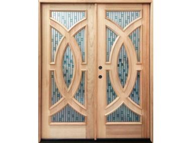Mahogany Radius Double Door $2,599