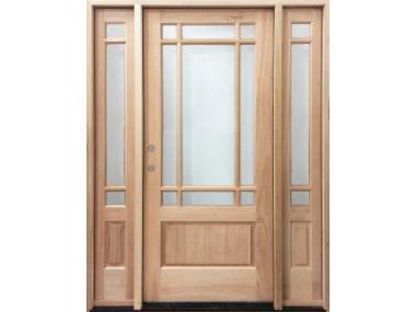 Mahogany 9 Lite Marginal Prairie Door $1,399