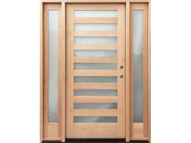 Mahogany 9 Lite Contemporary Door $1,299