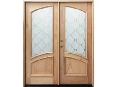 Mahogany Arch Lite Double Door $1,899