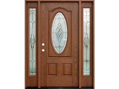 Bridgton Oak Decorative Door with Sidelites