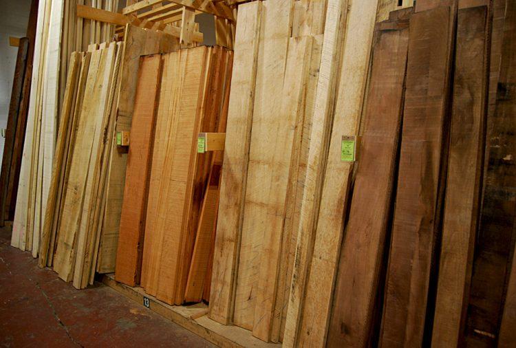 Rough hardwood boards