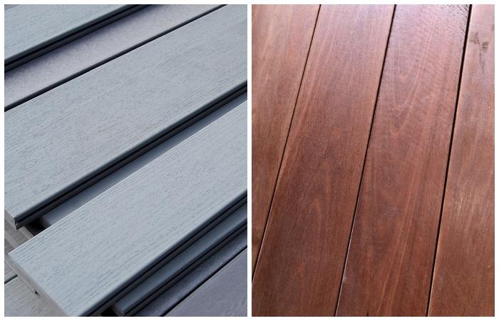 Composite vs hardwood decking