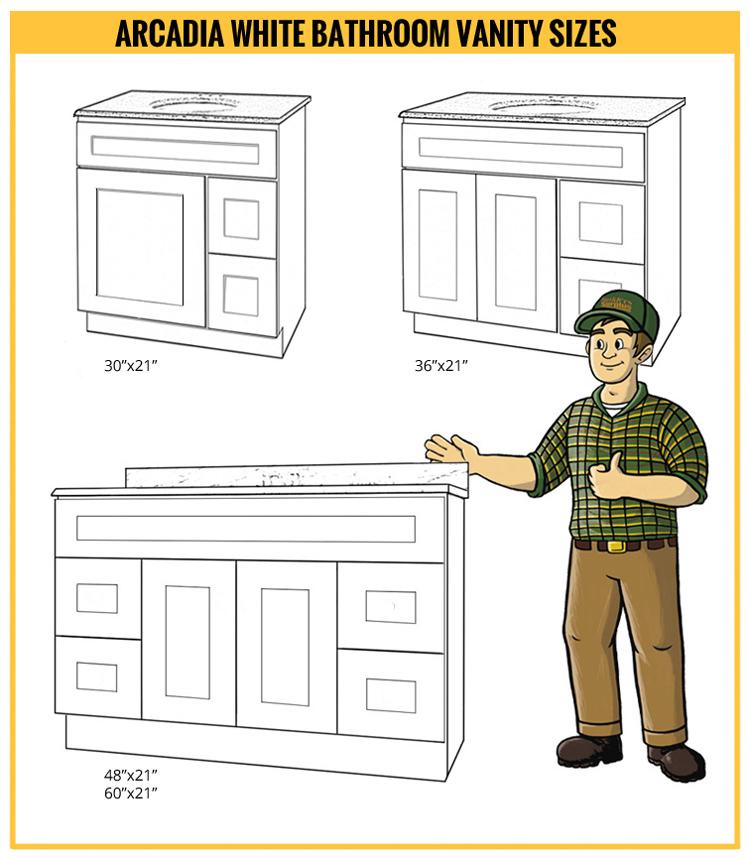 Arcadia White Bathroom Vanity Builders Surplus