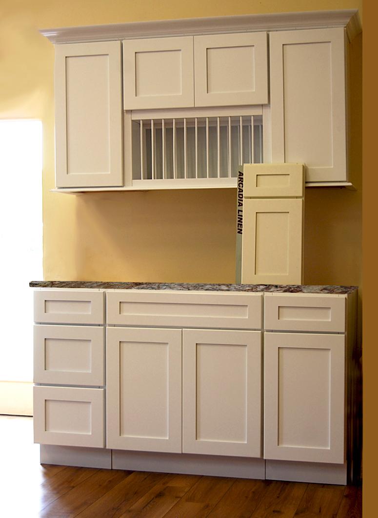 Arcadia White Kitchen Cabinets - Builders Surplus