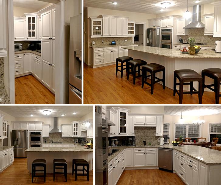 Newport White Kitchen Cabinets - Builders Surplus