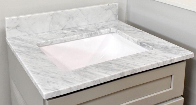 Carrara White bathroom vanity top