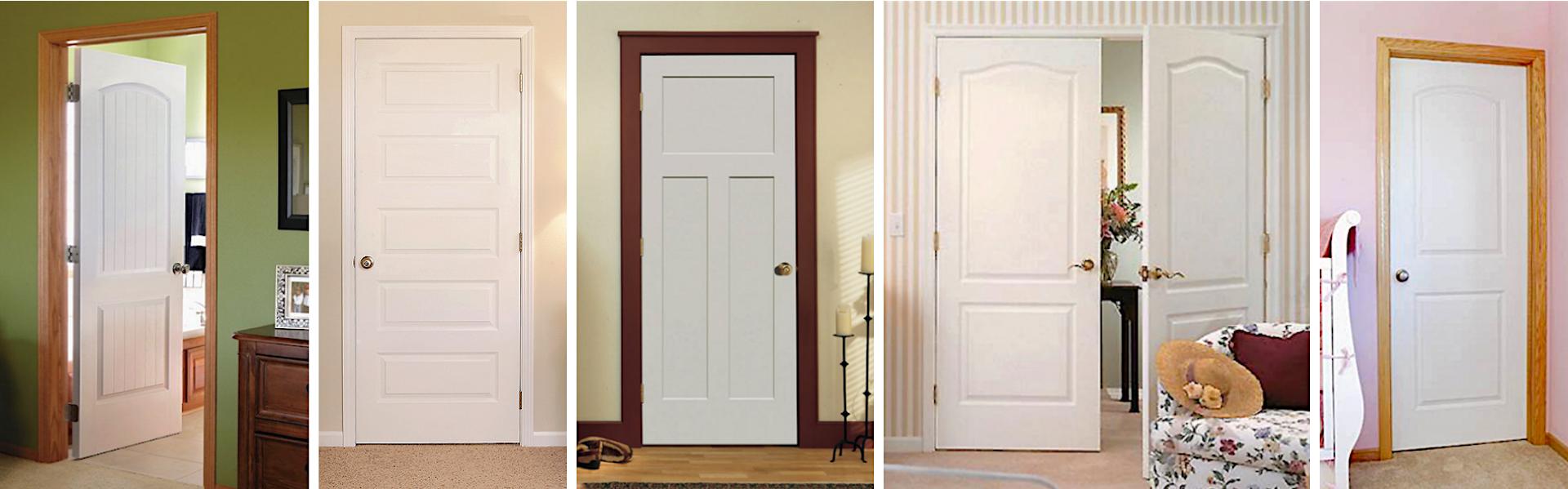 Molded interior door styles