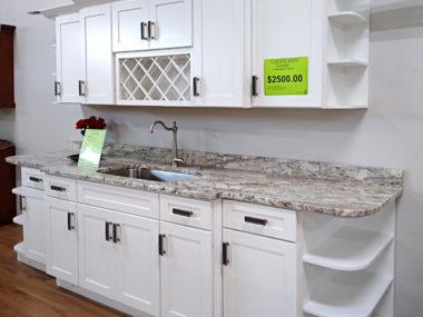 Tuscany White Cabinet Display $2,500