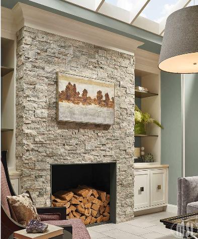 Stacked Ledger Stone Panels