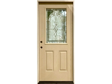 Fontana Half Glass Fiberglass Door