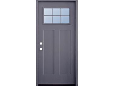 Craftsman 6-Lite Grey Single Door $529