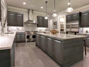 New Castle Gray Kitchen Cabinets