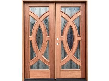 Mahogany Contemporary Radius Double Door $2,795