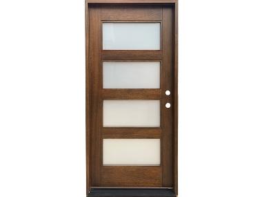 Mahogany 4 Panel Glass Door $895