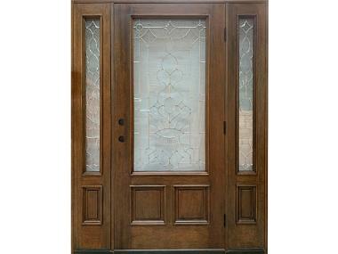 Mahogany Decorative Glass Door $1,795