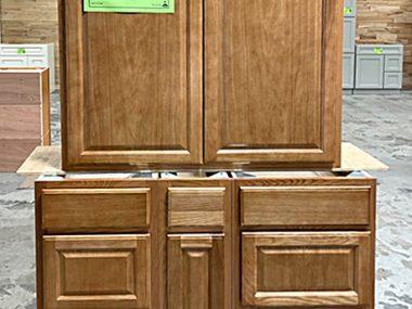 Randolph Oak Cabinet Combo $345